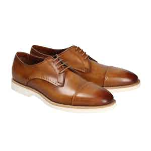 Tan Leather Taormina Derbys