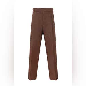 Brown Linen Domer Trousers