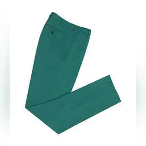 Teal High Waisted Linen Trousers
