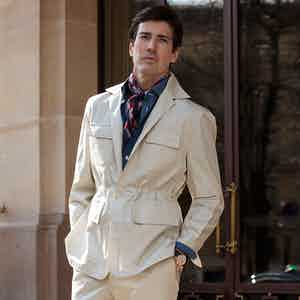 Beige Loro Piana Cotton Safari Sport Teba Jacket