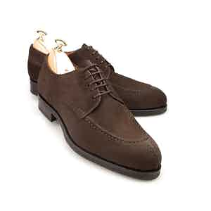 Brown Norwegian Split Toe Suede Derbys