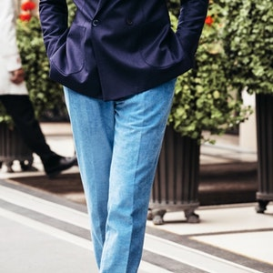 Light Blue Corduroy Trousers