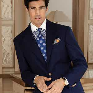 Navy Loro Piana Wool Sport Jacket