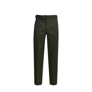 Dark Green Winter Cotton Trouser