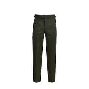 Dark Green Winter Cotton Trouser