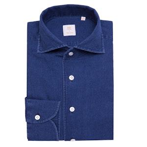 Indigo Blue Japanese Selvedge Denim Shirt