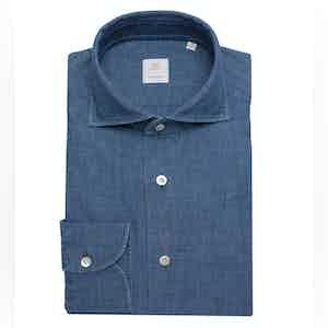 Grey-Blue Japanese Selvedge Chambray Shirt