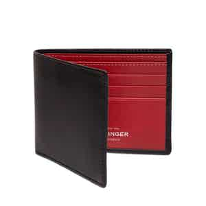 Black and Red Billfold Wallet with 6 C/C, Sterling Collection