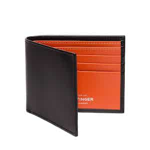 Black and Orange Billfold Wallet with 6 C/C, Sterling Collection