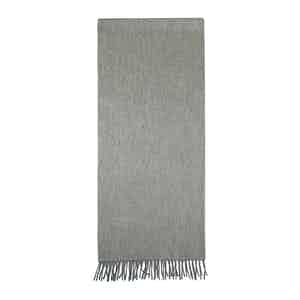Grey Cashmere Fur Tippet Effect Scarf