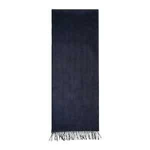 Blue Cashmere Fur Tippet Effect Scarf