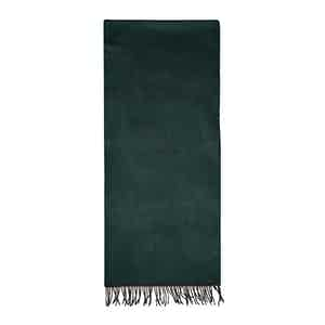 Green Cashmere Fur Tippet Effect Scarf