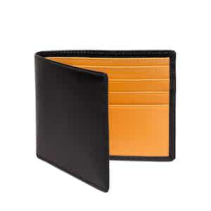 Black and London Tan Billfold Wallet with 6 C/C, Bridle Hide Collection