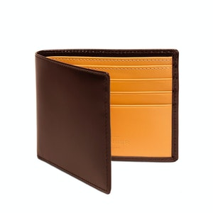 Nut and London Tan Billfold Wallet with 6 C/C, Bridle Hide Collection