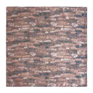 Brown Cars and Comb Print Silk Pocket Square