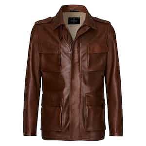Brown Hoffman Leather Jacket
