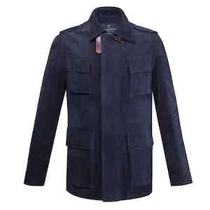 Blue Hoffman Suede Jacket