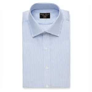 Sky Oxford Stripe Cotton Shirt