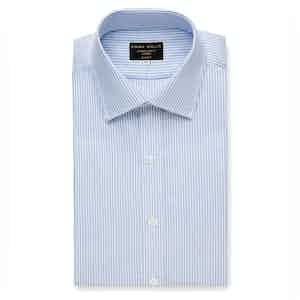 Sky Oxford Stripe Cotton Shirt