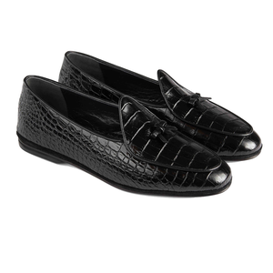 Black Marphy Leather Loafers