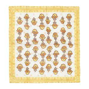 Yellow and Orange Bouquet Linen Pocket Square