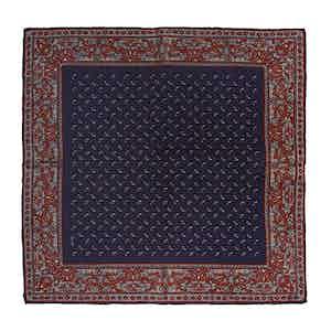 Dark Blue Elder Soave Silk Pocket Square