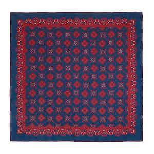 Blueberry Amarone Silk Pocket Square