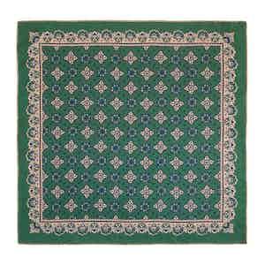 Green Moss Amarone Silk Pocket Square
