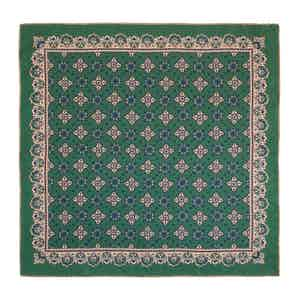 Green Moss Amarone Silk Pocket Square