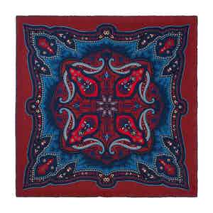 Red Blackberry Ripasso Silk Pocket Square