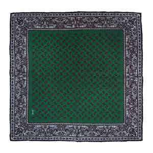 Green Lemon Soave Silk Pocket Square