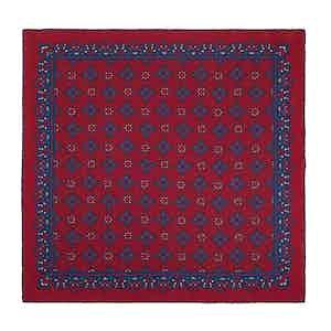 Red Cherry Amarone Silk Pocket Square