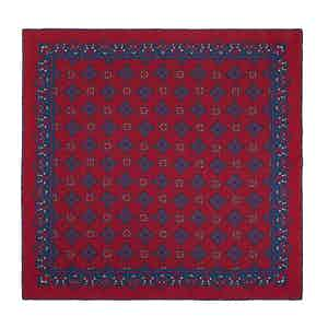 Red Cherry Amarone Silk Pocket Square