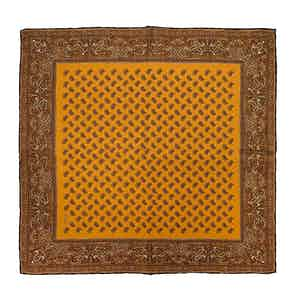 Mustard Almond Soave Silk Pocket Square