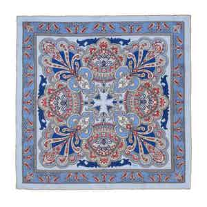 Light Blue Torcello Silk Pocket Square