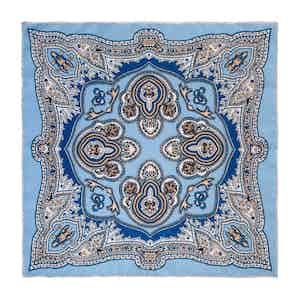 Light Blue Capri Silk Pocket Square