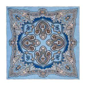 Light Blue Capri Silk Pocket Square