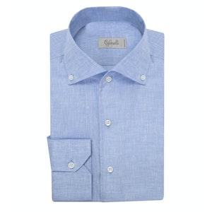 Sky Blue Button-Down Linen Shirt
