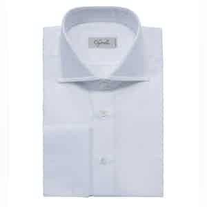White Classic Spread Collar Cotton Shirt