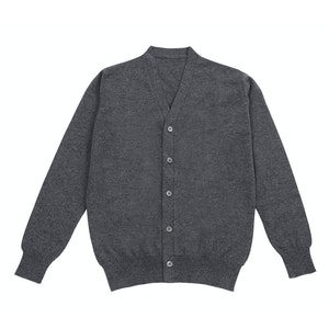 Grey Cashmere Cardigan