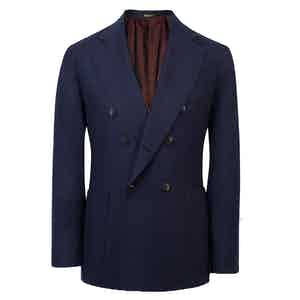 Navy Double-Breasted Cashmere Jacket