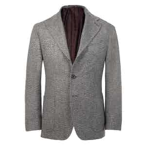 Grey Cashmere Unstructured Single-Breasted Jacket