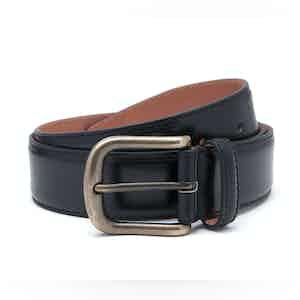 Black Nappa Leather Belt