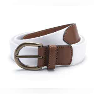 White Webbing Belt