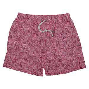 Floral Print Pink Swim Shorts