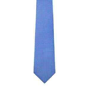 Floral-Dot Silk Printed Tie Sky
