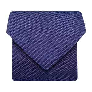 Hopsack Cotton/Silk Woven Tie Navy