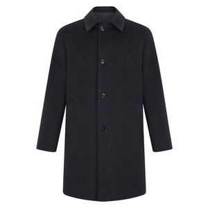 Charcoal Cashmere Reversible Trench Coat