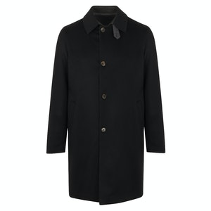 Black Cashmere Reversible Trench Coat