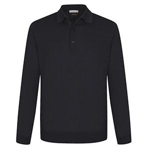 Black Cashmere and Silk Polo Shirt